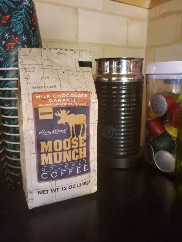 Milk Chocolate Caramel Moose Munch Coffee - 2 Items Included - Two 12 Oz Bags Of Gourmet Ground Coffee